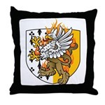 Flaming Gryphon Throw Pillow