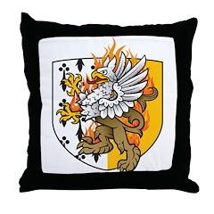 Flaming Gryphon Throw Pillow