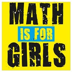 Math for girls Framed Print