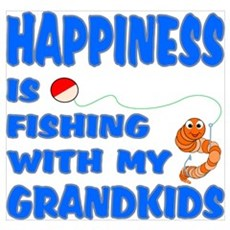 Happiness Is Fishing With Gra Poster