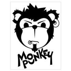 MONKEYPUNK 001 - BLACK Canvas Art