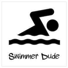 Swimmer Dude Poster