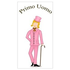 Blond Primo Uomo in Pink Suit Poster