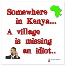Village idiot kenya Framed Print