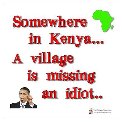 Village idiot kenya Poster