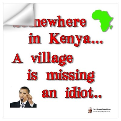Village idiot kenya Wall Decal