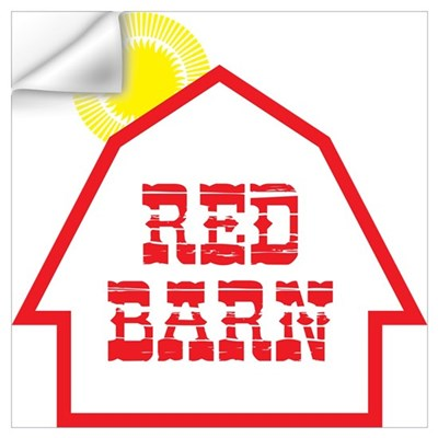 70's Red Barn Wall Decal