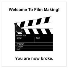 Film Making Broke Framed Print