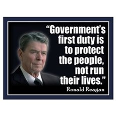 REAGAN: Government's first duty... QUOTE Small Pos Poster