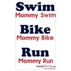 Triathlon Mommy Poster