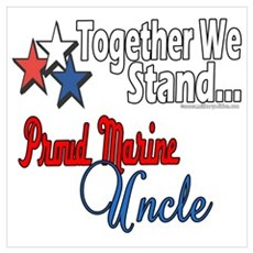 Proud Marine Uncle Poster