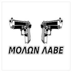 Molon Labe (Greek) Poster