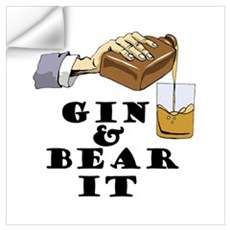 Gin and bear it Wall Decal