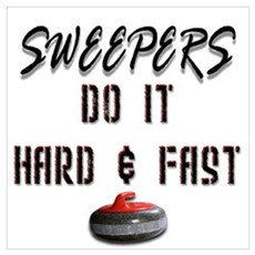 Sweepers Do It Hard & Fast Framed Print