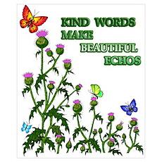 Kind Words Make Beautiful Ech Poster
