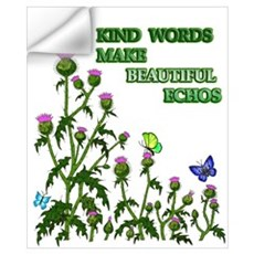 Kind Words Make Beautiful Ech Wall Decal