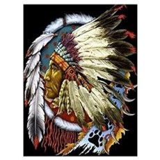 INDIAN CHIEF WHITE CLOUD Poster