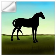 Grassy Field Horse Wall Decal