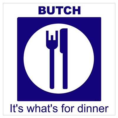 Butch for Dinner2 Framed Print