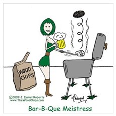 Bar-B-Que Meistress Canvas Art