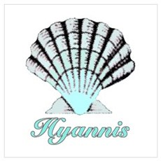 Hyannis Shell Poster