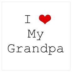 I Heart My Grandpa Poster