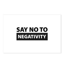 Say No To Negativity Postcards (Package of 8)