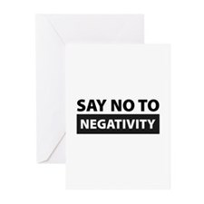 Say No To Negativity Greeting Cards (Pk of 10)