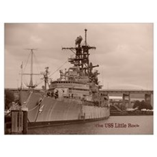 USS Little Rock Canvas Art