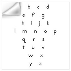 Lowercase Letters Wall Decal