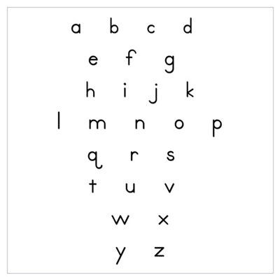 Lowercase Letters Poster