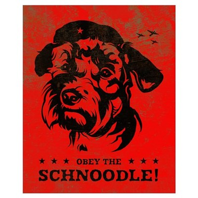 Obey the Schnoodle! Propaganda Framed Print