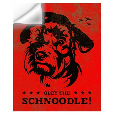 Obey the Schnoodle! Propaganda Wall Decal
