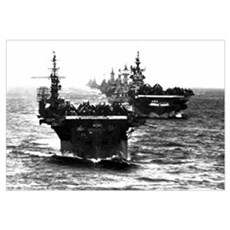 WWII AIRCRAFT CARRIERS Framed Print