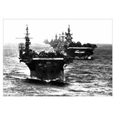 WWII AIRCRAFT CARRIERS Poster