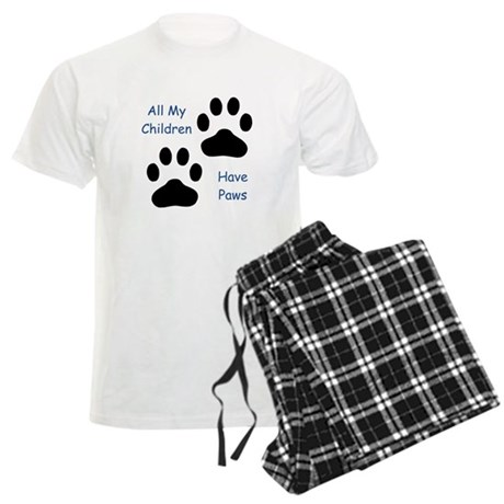 All My Children Have Paws 1 Men's Light Pajamas