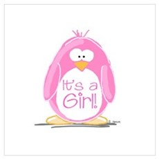 It is a Girl Penguin Poster