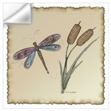 Dragonfly 4 Wall Decal