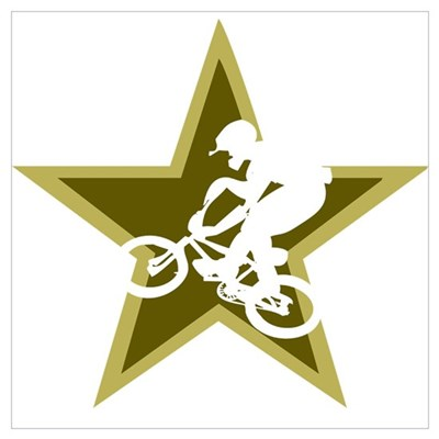 BMX Star Canvas Art
