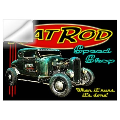 Rat Rod Speed Shop - neon Wall Decal