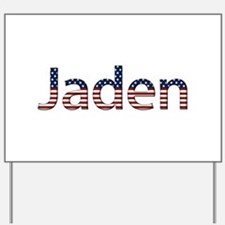 Jaden Stars and Stripes Yard Sign