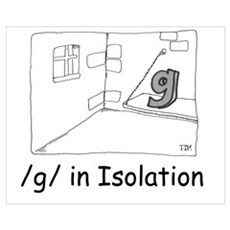 G in isolation Canvas Art