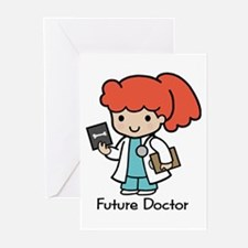 Future Doctor - girl Greeting Cards (Pk of 10)