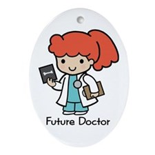 Future Doctor - girl Oval Ornament