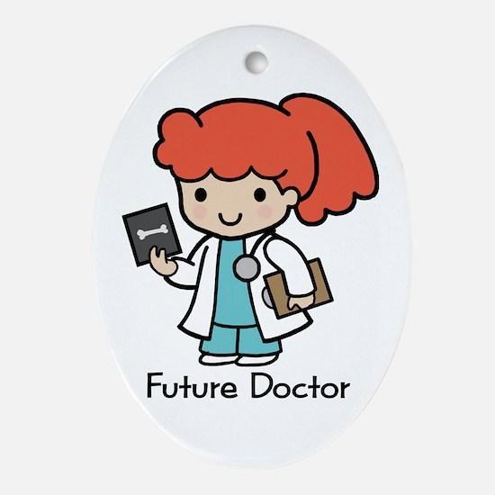 Future Doctor - girl Oval Ornament