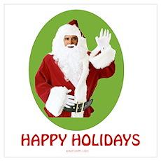 Obama Santa Holiday Poster