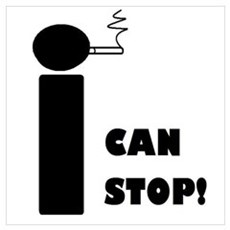 I CAN STOP SMOKING! Framed Print