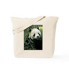 Panda Face Eating Tote Bag