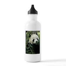 Panda Face Eating Water Bottle