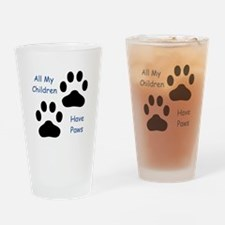 All My Children Have Paws 1 Drinking Glass